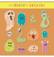 Funny monsters stikers vector image