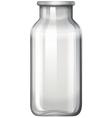 Glass bottle on white vector image vector image