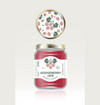 gooseberry jam label packaging can lid pattern vector image vector image