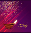 hindu diwali festival greeting with sparkles vector image