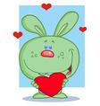 Holiday rabbit cartoon vector image vector image