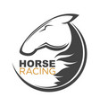 horse racing logotype isolated with vector image vector image