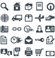 Icons for the web site or mobile app vector image vector image