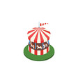 isolated horses attraction isometric carousel vector image