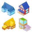 isometric cottages on white background vector image