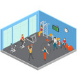 keep fit studio composition vector image vector image