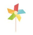 kids toys pinwheel cartoon isolated icon design vector image vector image