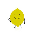 lemon cute character for your design vector image vector image