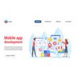 mobile app development landing template vector image