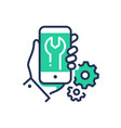 mobile device repair - modern line design vector image vector image