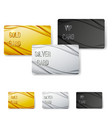 modern wave abstract vip card collection vector image vector image