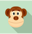 monkey head icon flat style vector image vector image