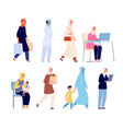 muslim women fashion arab shopaholic female vector image