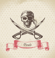 Pirate skull hand drawn vector | Price: 1 Credit (USD $1)
