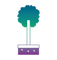 pixel tree grass nature ecology vector image vector image
