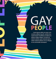 Profiles of two men homosexual couple With place vector image vector image