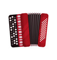 red accordion classical bayan musical instrument vector image vector image
