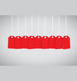 red tag set vector image vector image