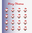 santa clauses are different icon flat vector image