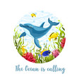sea life print vector image