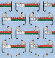 seamless pattern of two lemurs and word madagascar vector image
