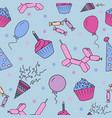 seamless pattern with pictures for a birthday vector image