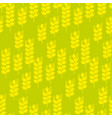 seamless pattern with wheat ears vector image
