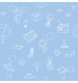 seamless sketch patterns vector image vector image