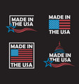 set made in usa labels vector image vector image