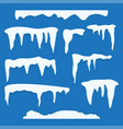 set of ice caps vector image