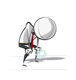 Simple Business People on Project Catching ones vector image vector image
