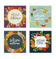 square autumn banner template elegant frame made vector image vector image
