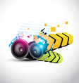 stylish speaker eps10 speaker design vector image vector image