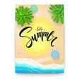 summer beach seashore poster vector image vector image