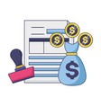 tax payment concept vector image
