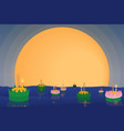 thai traditional floating flowers loy kratong vector image vector image