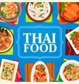 thailand cuisine restaurant meals banner vector image vector image