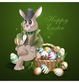 The Easter Bunny With A Basket vector image