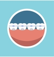 Tooth braces vector image vector image
