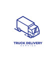 truck delivery service logo vector image vector image