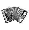 vintage of piano accordion vector image vector image