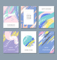 watercolor pastel abstract backgrounds vector image
