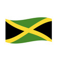 waving jamaica flag vector image vector image