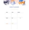 weekly planner design vector image vector image
