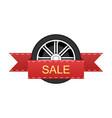 wheel disk discount banner vector image