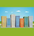 cartoon buildings vector image