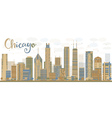 Abstract Chicago skyline vector image