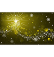 Abstract winter glowing background with snowflakes vector image vector image