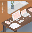 adaptive web design for different devices vector image vector image