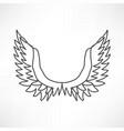 angel icon vector image vector image